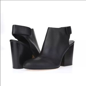 Vince Blank leather Ingrid Cut out booties